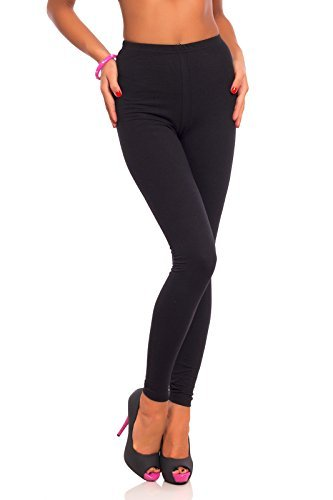 Futuro Fashion® Full Length Cotton Leggings All Colours All Sizes Active Pants Sport Trousers