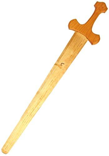 Kinder Holz Ritterschwert Kreuzritter 58cm Schwert Holzschwert Holzspielzeug Naturholz Kostüm