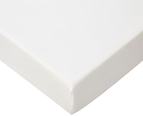 Drap housse Coton Bio pour lit une place 90x190 / 90x200 - Blanc