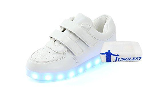 (Present:kleines Handtuch)JUNGLEST Damen Hohe Sneaker Weiß USB Aufladen LED Leuchtend Fasching Partyschuhe Sportsc c9