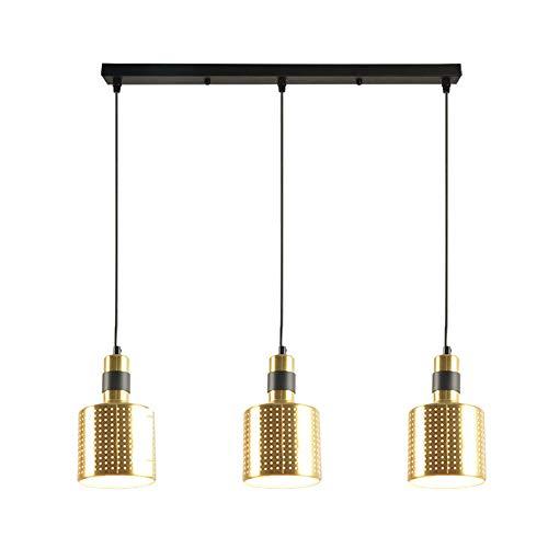 LED Chandelier Aluminium-Legierung Post Moderne Kreative Einfache Bar-Restaurant-Bar 12 * 20Cm * 3 Weinbereitung Glühbirne-Stecker Gold Schlafzimmer