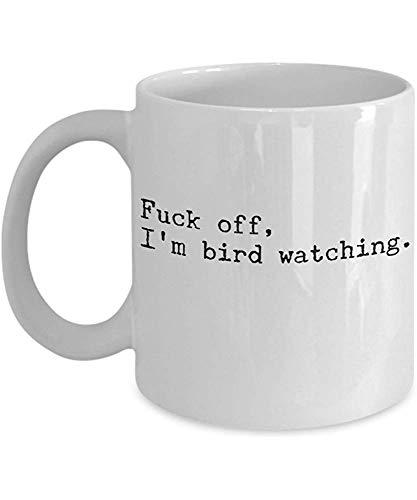 Mug Observación De Aves Divertida Observación De Aves Fuck Off Soy Observación De Aves Mejor Regalo De Novedad Para Observadores De Aves Nerds Observadores Amantes Ornitólogos Cerámica Blanca Par