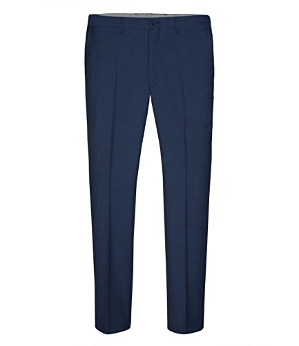 Michaelax-Fashion-Trade - Pantalon de costume - Uni - Homme Bleu - Blue - Dark Royal Blue