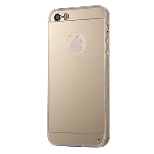 Apple iPhone 5 Marmor-Hülle schwarz [ TPU Case Marmormuster Optik ] Smartphone Schutzhülle Cover Marble Muster Marmor Design | Movoja® | schwarz-Marmor Gold