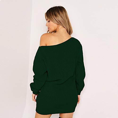 Donna Eleganti Manica Lunga Felpe Abito Corti Autunno Inverno Sciolto Pullover Camicia Tops Oversize Sweatshirt Mini Vestito