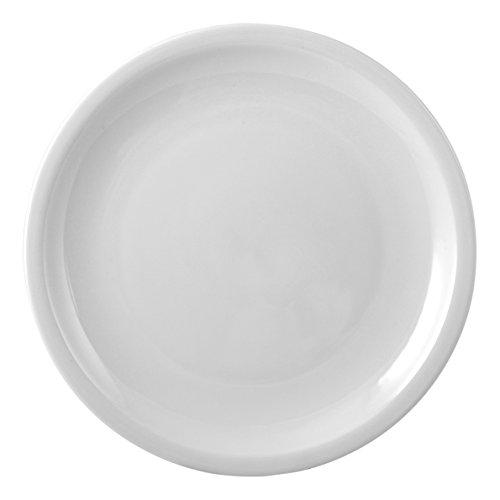 HOTELWARE Vésuve Plat Rond, 30 cm, Porcelaine, Blanc