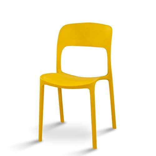 KLEDDP Kunststoff esstisch und Stuhl Familie hocker trainingsstuhl Restaurant Sitz Freizeit Stuhl Computer Stuhl gelb 82x43 cm Stuhl -