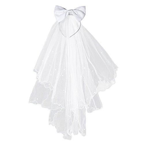 BESTOYARD kinder mädchen schleier Blume Mädchen kommunions haarschmuck Stirnband Schleier Hochzeit Kommunion Krone mit Bogen