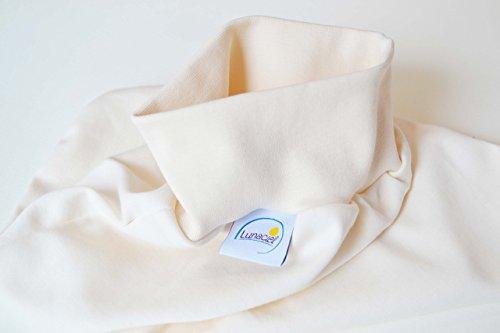 Strampelsack aus Bio-Baumwolle, Schlafsack zum Pucken, Babys und Kinder, 50 56, für Bett Kinderwagen, beige natur creme, Mädchen Jungen