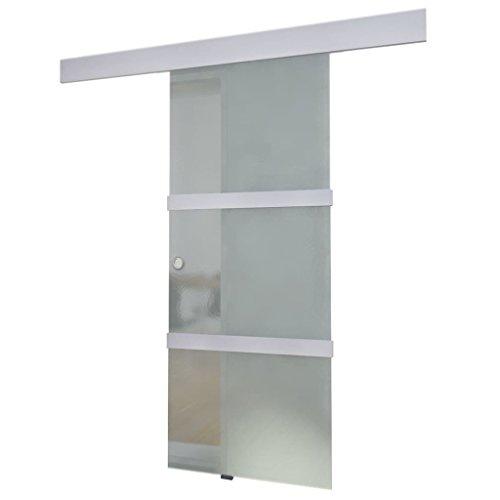 vidaXL Puerta corrediza de vidrio Puerta deslizante de cristal