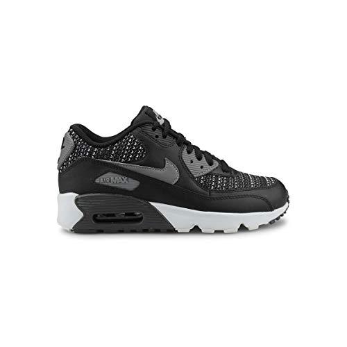 Nike Jungen Air Max 90 Mesh Se (gs) Laufschuhe, Mehrfarbig (Black/Cool Anthracite/Wolf Grey 002), 38 EU