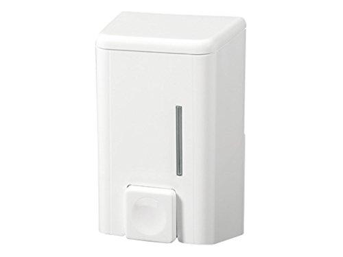 Bisk 07402 Dispensador de jabón de 500ml de plástico ABS, Blanco