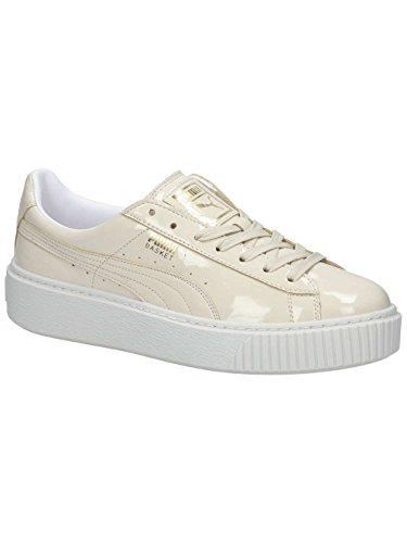 Puma Damen Basket Platform Patent Wn's Sneaker, Elfenbein (Oatmeal-Oatmeal), 40 EU (Patent Freizeitschuhe Leder)