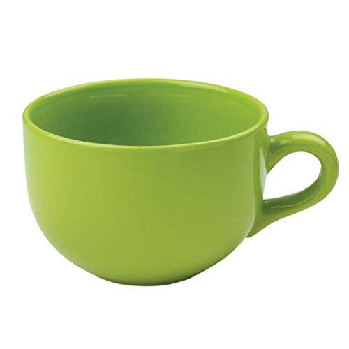 24Unze Extra Large Latte Kaffee Tasse oder Suppe Schüssel mit Griff-grün Citron (24 Becher Becher Unze)