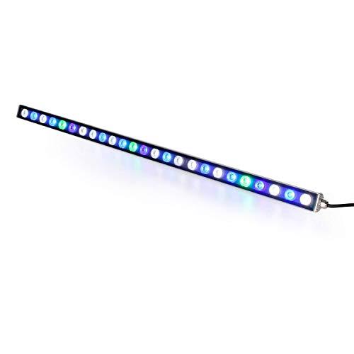 Roleadro Luce Acquario 81W Impermeabile IP65 Striscia LED Acquario,27 LED Lampada Acquario con Verde Blu e UV LED Ideal per Illuminazione Acquario Pesci/Corallo/Piante 85CM