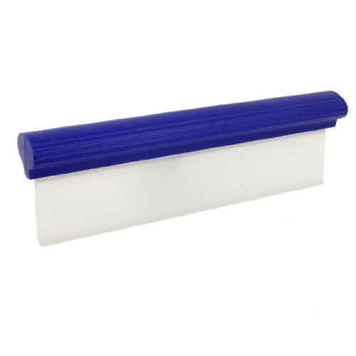 sourcingmap® 30cm Long Silicone Essuie-glace Fenêtre Film Teinte Bulle Grattoir Bleu pour voiture