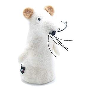 Filztier Tier-Eierwärmer Maus aus Filz Handarbeit Ostern gefilzte Tierfigur