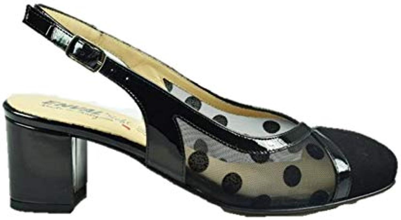 ENVAL SOFT 3297700 Sandali Aperti Dietro con Tacco Donna in Pelle | La qualità prima  | Maschio/Ragazze Scarpa
