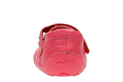 Clarks Little Mia, Scarpe per Gattonare Bimba Hot Pink Leather