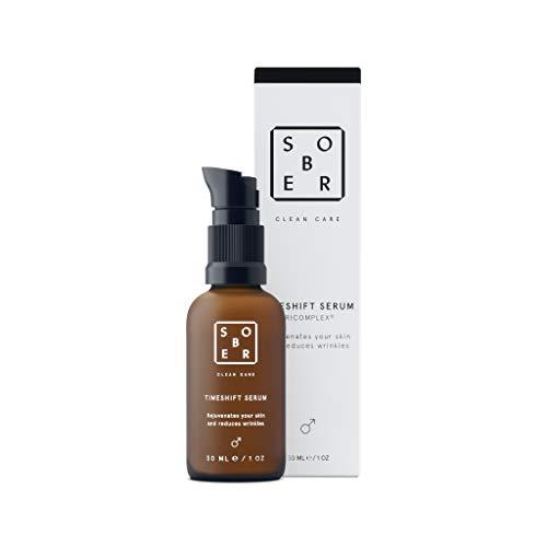 sober®   Timeshift   Anti-Aging Serum   Hochdosiertes Anti Falten Gel gegen Augenringe und Tränensäcke bei Männern mit Soforteffekt   Bis zu -45% Reduktion der sichtbaren Tiefe von Falten