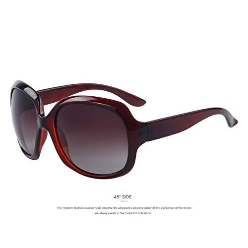 Sport-Sonnenbrillen, Vintage Sonnenbrillen, Women Luxury Polarized Sunglasses Fashion Butterfly Glasses C02 Brown