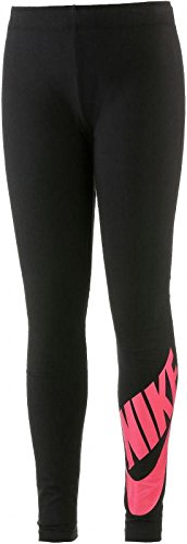 Nike NIKE G NSW LEG A SEE LGGNG LOGO schwarz-hellrot - S (Mädchen Spandex Nike Für)