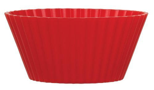 Harold Import Company Mrs. Anderson's Baking European Grade Silicone Muffin Cup, Red, Set of 12 (Harold Import Silicone)