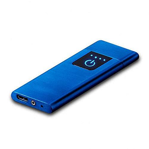 ARCLAND Mechero eléctrico con Sensor de Huella Dactilar, Recargable con USB, Resistente al Viento...