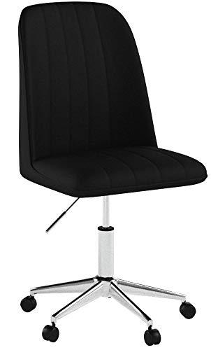 Relaxdays Bürostuhl höhenverstellbar, Schreibtischstuhl zum Drehen, 100 kg, Elegantes Design, 96 x 53 x 58 cm, schwarz