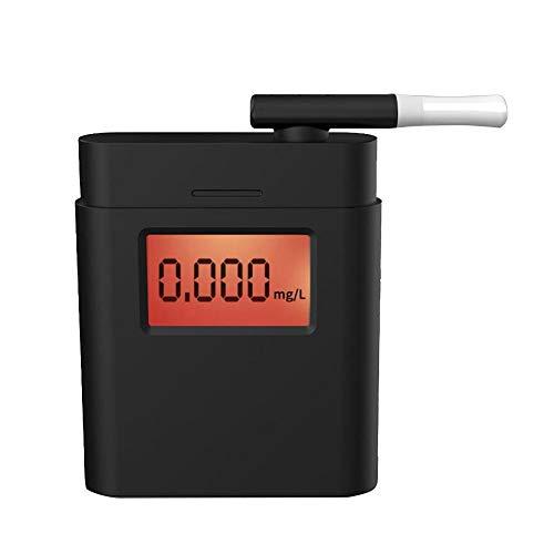GuDoQi Alcohol/ímetro Digital con 20 Boquillas Probador De Alcohol Pantalla De Retroiluminaci/ón LCD Analizador De Aliento para Controladores O Uso Dom/éstico