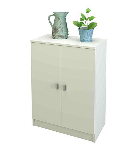 Samblo senchi armadio, legno, bianco, 34 x 60 x 80 cm