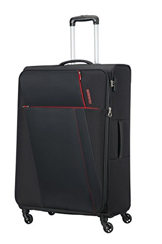 AMERICAN TOURISTER Joyride - Spinner 79/29 Expandable Bagaglio a mano, 79 cm, 106.5 liters, Nero (Obsidian Black)