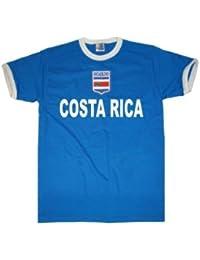 Costa Rica Camiseta de camiseta Look + escudo S – XXL), unisex, azul
