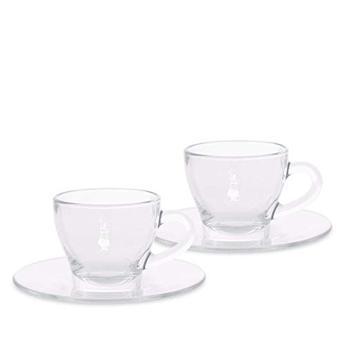 Bialetti DCRAST0007 Cappuccino-Tasse, Glas, 2 Stück - Cappuccino-tassen Aus Italien