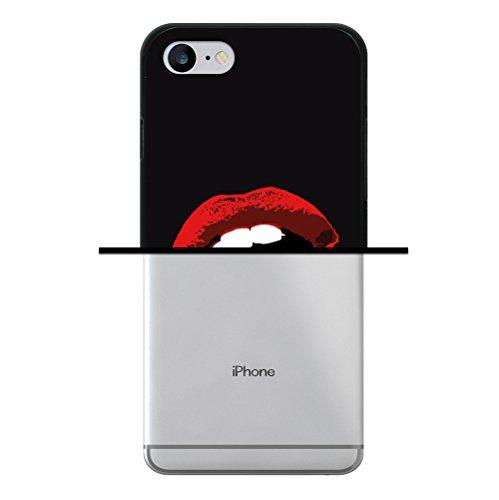 WoowCase Hülle Case für [ iPhone 7 ] Handy Cover Schutzhülle Gehirn, Musik und Wissenschaft Housse Gel iPhone 7 Schwarze D0037