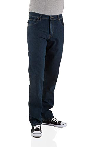 Relaxed Fit Stonewashed Denim (Wrangler Herren Jeans Durable Stretch - Regular Fit - Black - Rinsewash - Darkstone - Stonewash - Dark Stonewash, Größe:W 31 L 30, Farbe:Stretch Darkstone (W10I22009))