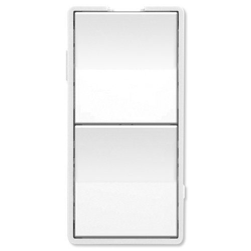 Simply Automated UPB Faceplate, Dual Rockers, Short, White (ZS22-W) by Simply Automated Dual-faceplates