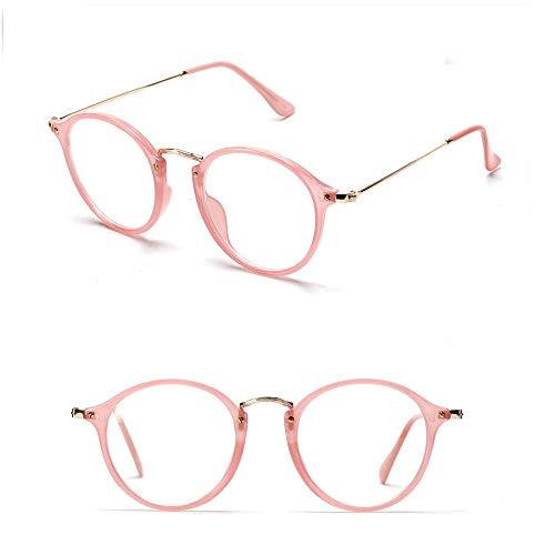 WULE-RYP Polarisierte Sonnenbrille mit UV-Schutz Retro Runde Optiacl Brillengestell Klare Linse Unisex Style Party. Superleichtes Rahmen-Fischen, das Golf fährt (Farbe : Rosa)