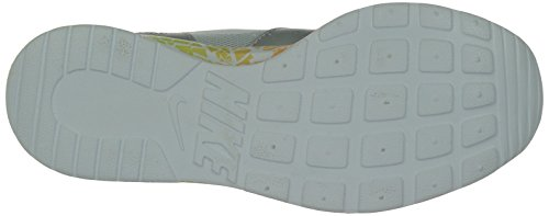 Nike Kaishi Run Print, Chaussures de Running Femme Multicolore (metallic Platinium/white-flash Lime-hot Lava 010)