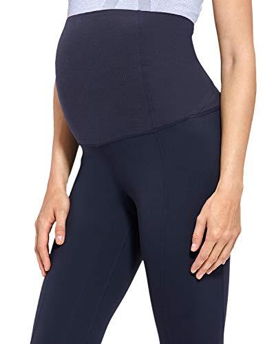 Gratlin Leggings para Maternidad Pantalones Premama Embarazadas Mujer Azul marino S