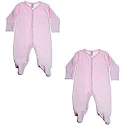 Soft Touch Pijama Mono, Pelele, mamaluco - para los bebés, los recién Nacidos, ninos, Ninas - algodón - Paquete de 2