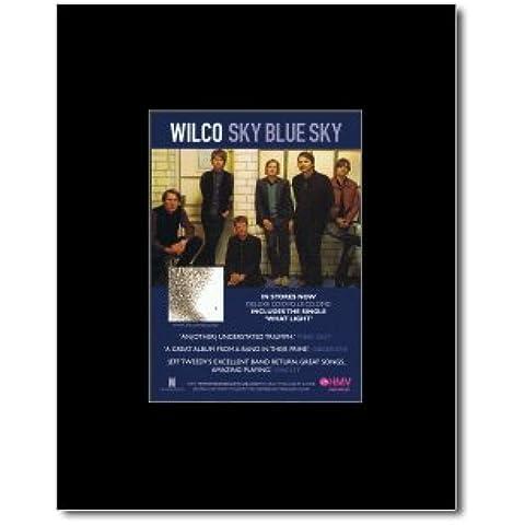 WILCO - Color azul cielo enmarañado minipóster - 13,5 x 10 cm