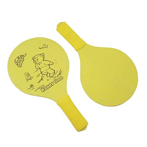 LIOOBO Beach Paddle Ball Badminton Beach Cricket Holzschläger Paddel Outdoor Schläger Spiel ohne Ball für Kinder (Blau) (Beach-cricket)