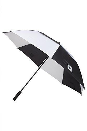 Mountain Warehouse Parapluie de Golf Motif Noir et Blanc Homme Femme Résistant Noir Taille Unique