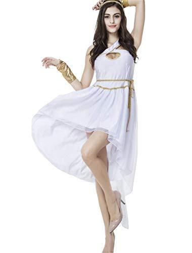 LOBTY Damen Römische Göttin griechische Halloween Kostüm Griechischer Göttin Kostüm Oder Ägyptisches - Womens Römischen Göttin Kostüm