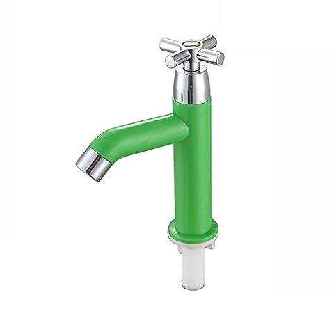 Homdsim Home Improvement ABS un seul trou froid robinet d'eau Robinet pour évier de cuisine Lavabo