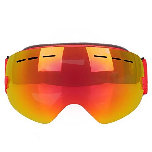 Sportbrille Jungen Skibrille Doppel Anti Fog Brille Erwachsene Große Sphärische Skibrille Skiausrüstung Red Damen Herren