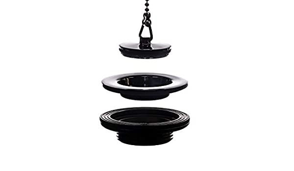 RIESS/® series ~ Suitable for all Alpenemaille/® washbasins brass /& rubber and ball chain ~ Alpenemaille/® Premium vintage//retro basin waste with 2 plugs