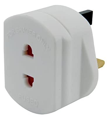 UK 2 to 3 Pin Fuse Adaptor Plug