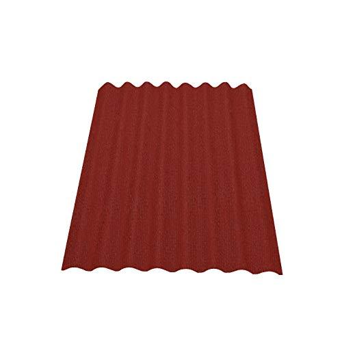 Onduline Easyline - Placa de techo para pared 1 x 0,76 m, color rojo